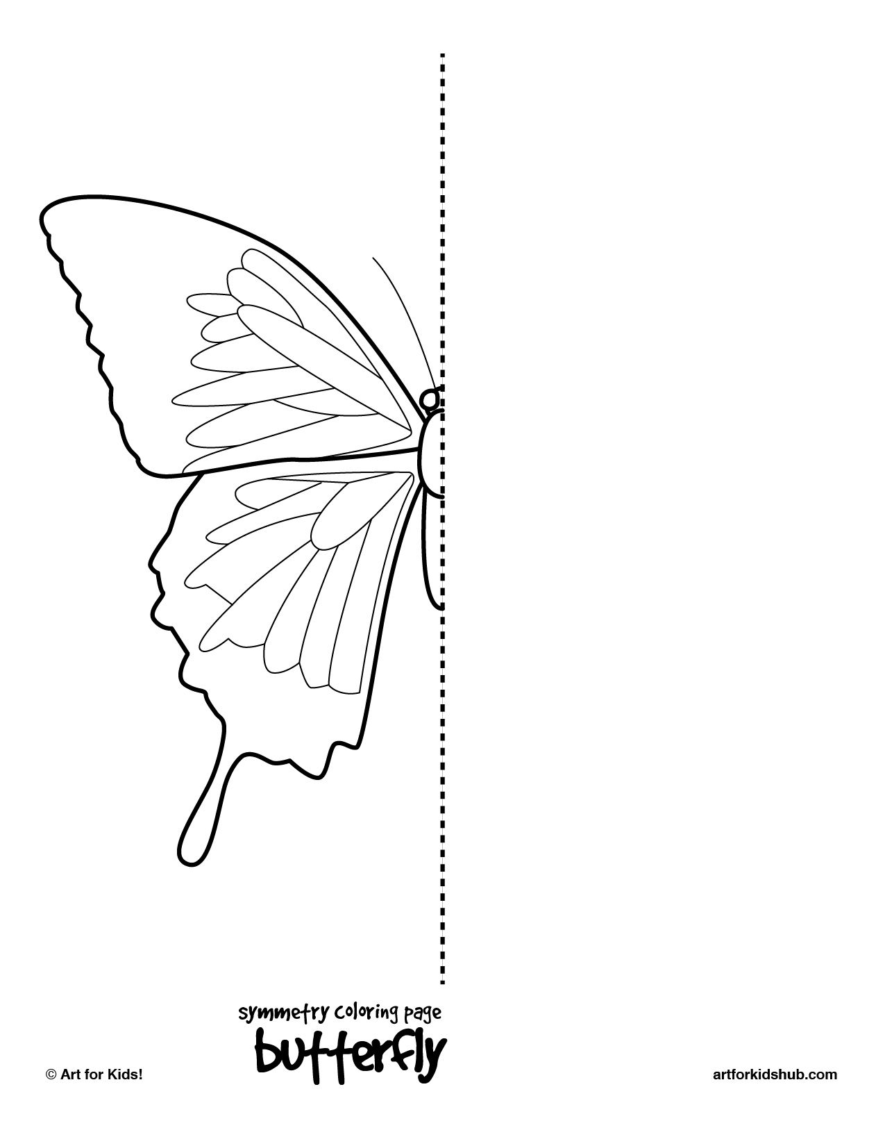10 Free Coloring Pages - Bug Symmetry - Art For Kids Hub - | Art | Printable Symmetry Worksheets
