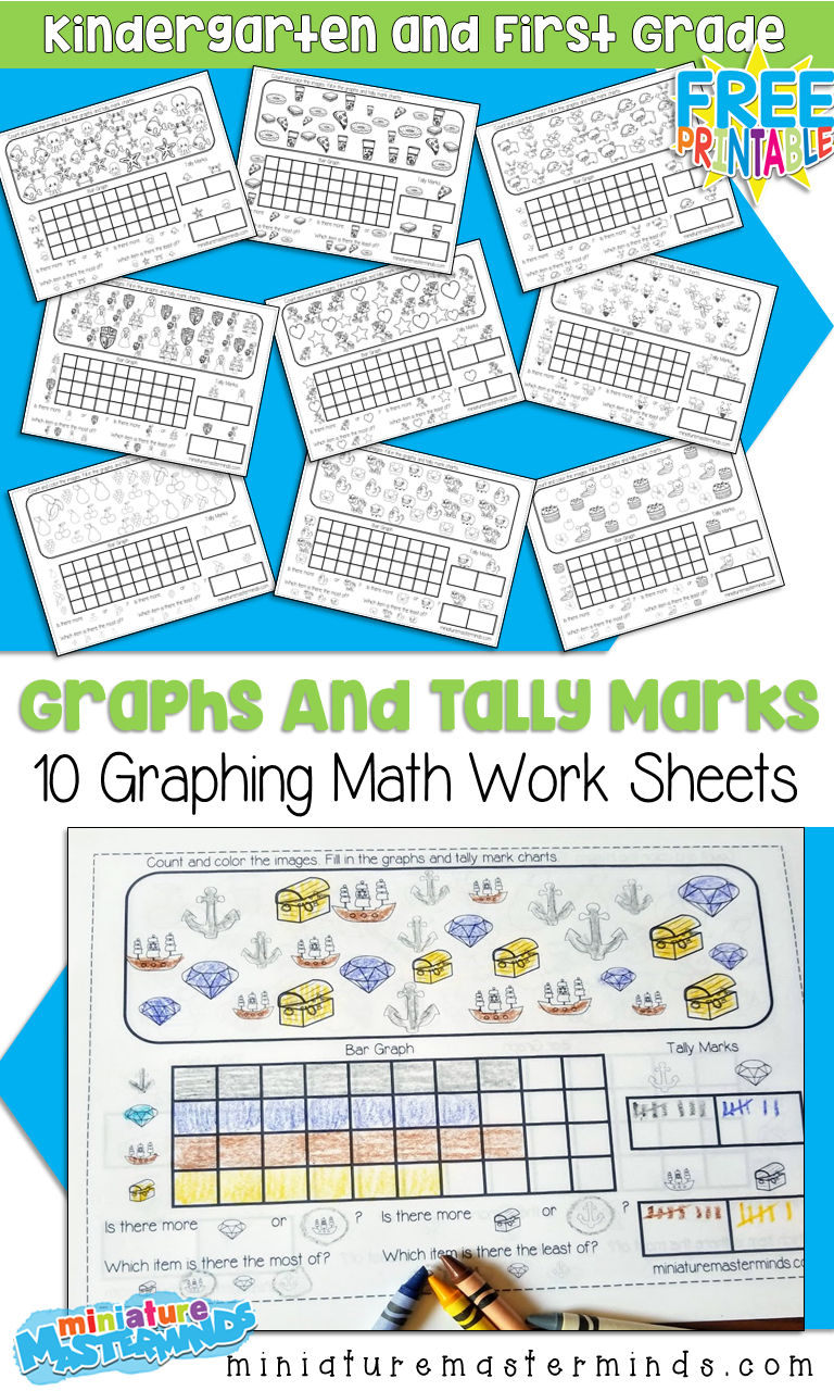 10 Free Printable Graphing Worksheets For Kindergarten And First | Free Printable Graphing Worksheets