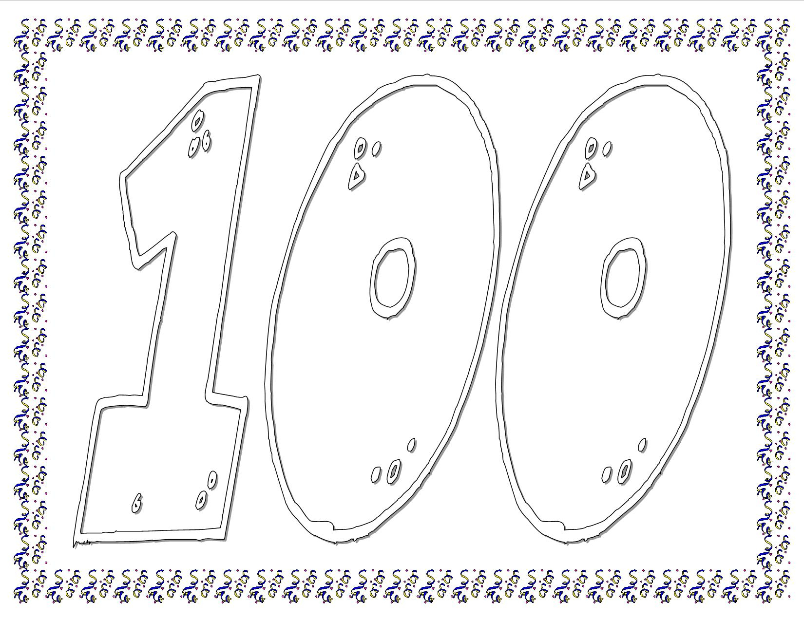100Th Day Of School Worksheets And Printouts   Printable 100 Day Worksheets