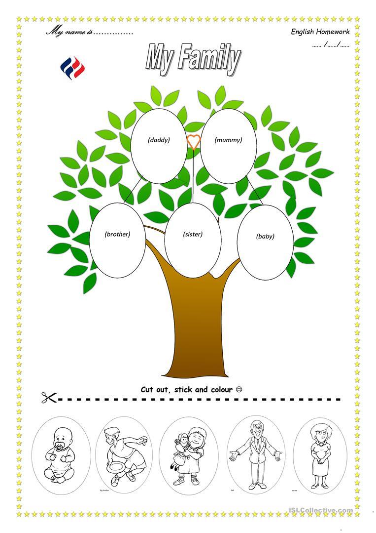 113 Free Esl Family Tree Worksheets - My Family Tree Free Printable | My Family Tree Free Printable Worksheets