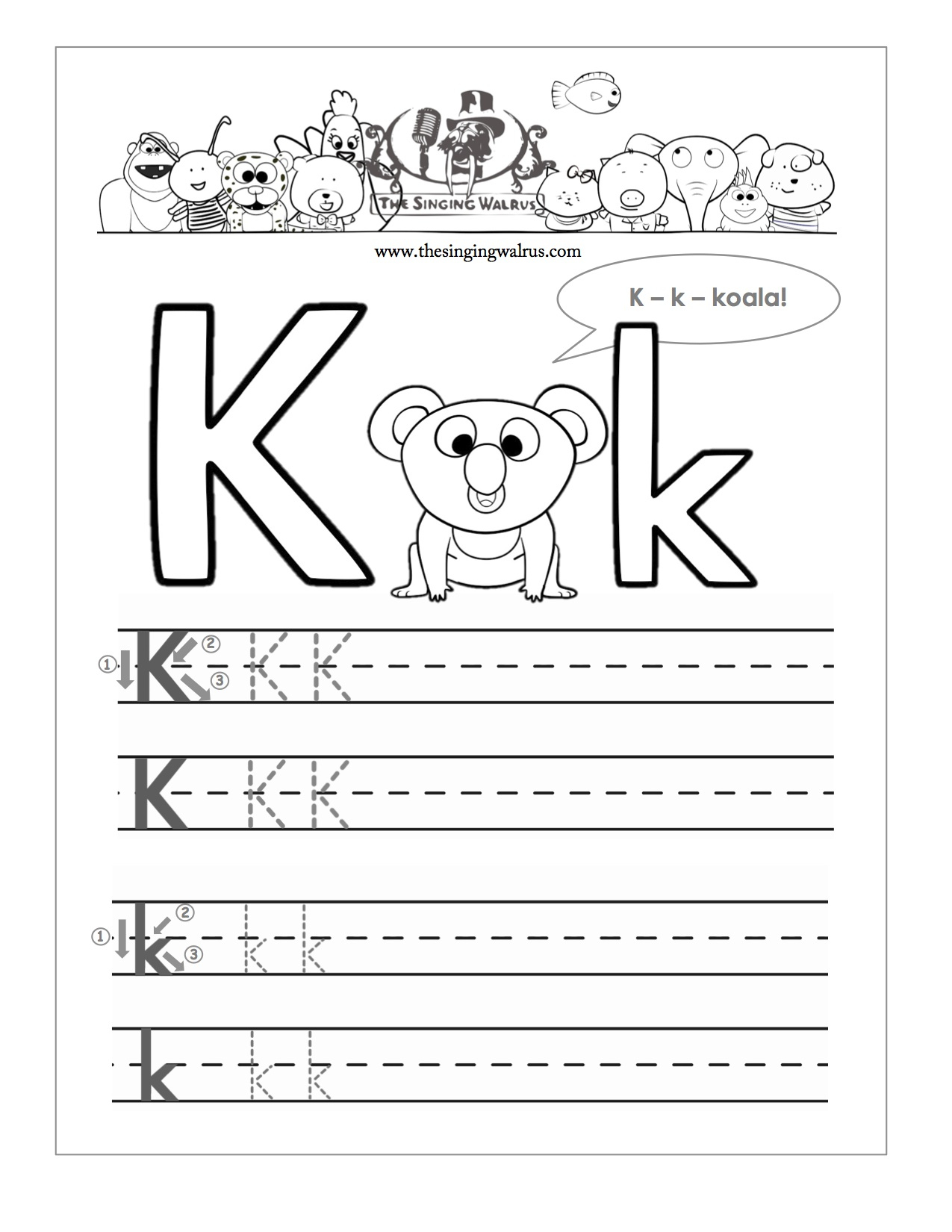 15 Learning The Letter K Worksheets | Kittybabylove | Free Printable Letter K Worksheets