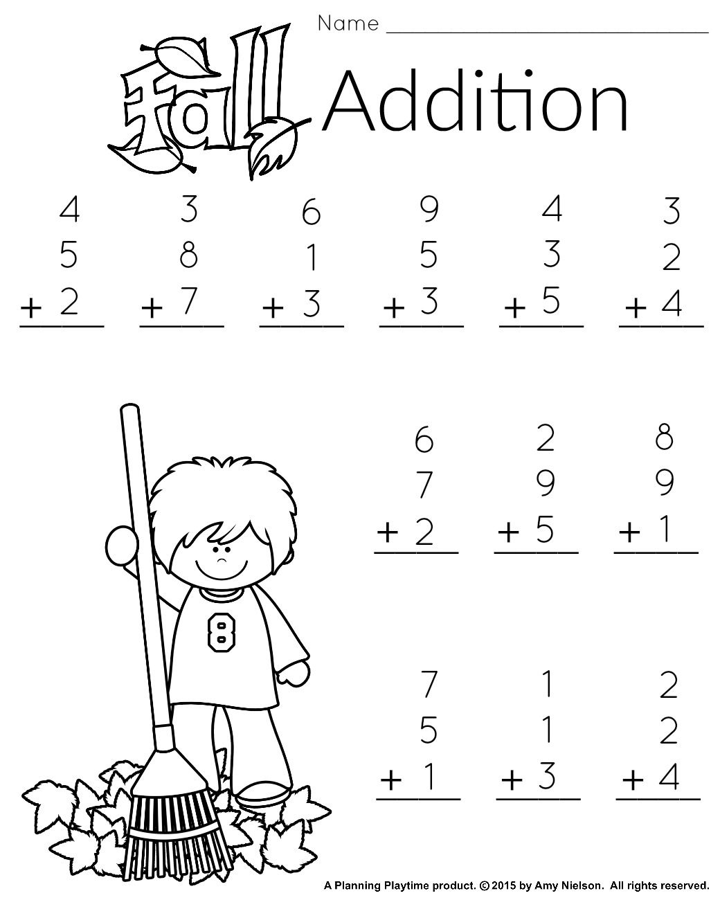 1St Grade Math And Literacy Worksheets With A Freebie! | Teachers | Printable Math Worksheets For 1St Grade