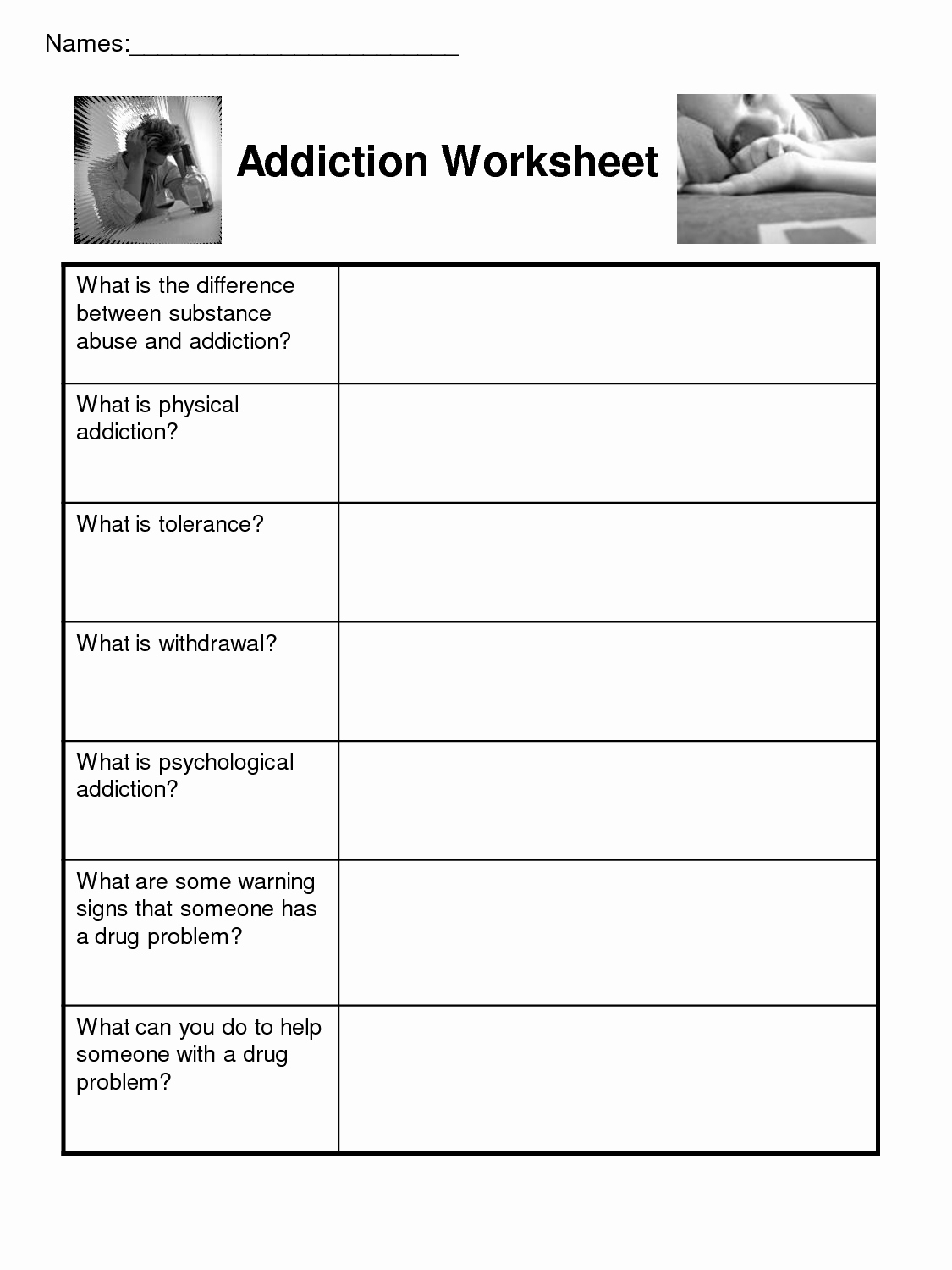 20 Group Therapy Worksheets For Substance Abuse – Diocesisdemonteria | Free Printable Therapy Worksheets