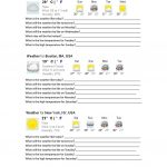 23 Free Esl Forecast Worksheets | Free Printable Weather Map Worksheets