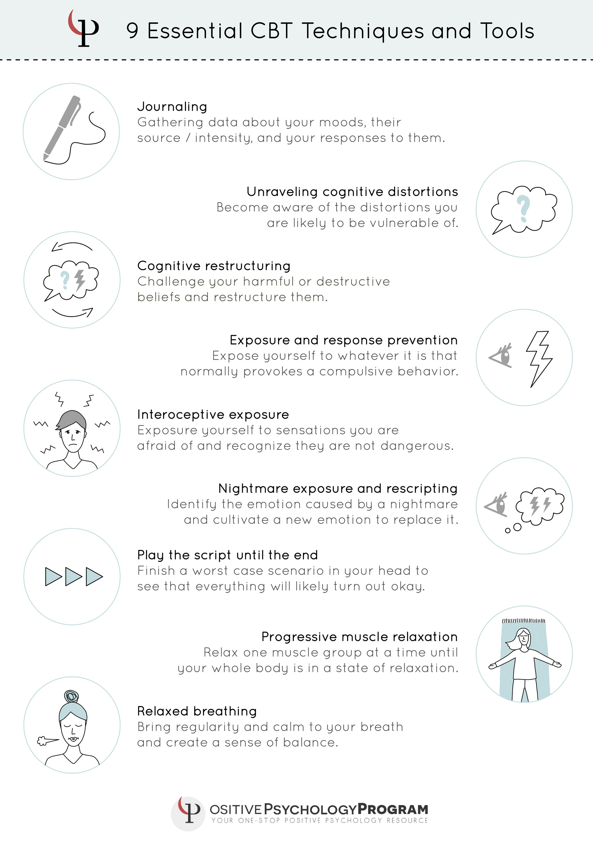 25 Cbt Techniques And Worksheets For Cognitive Behavioral Therapy   Printable Mental Health Worksheets