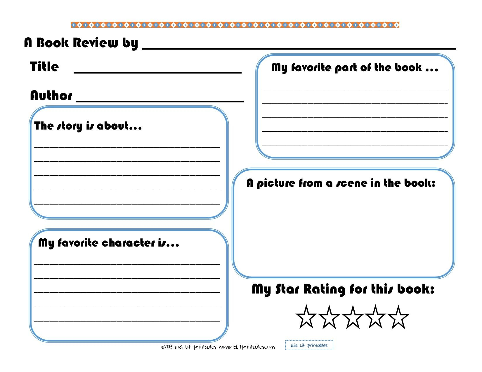 3 Levels Of Free Printable Book Reports From Kid Lit Printables | Book Report Printable Worksheets