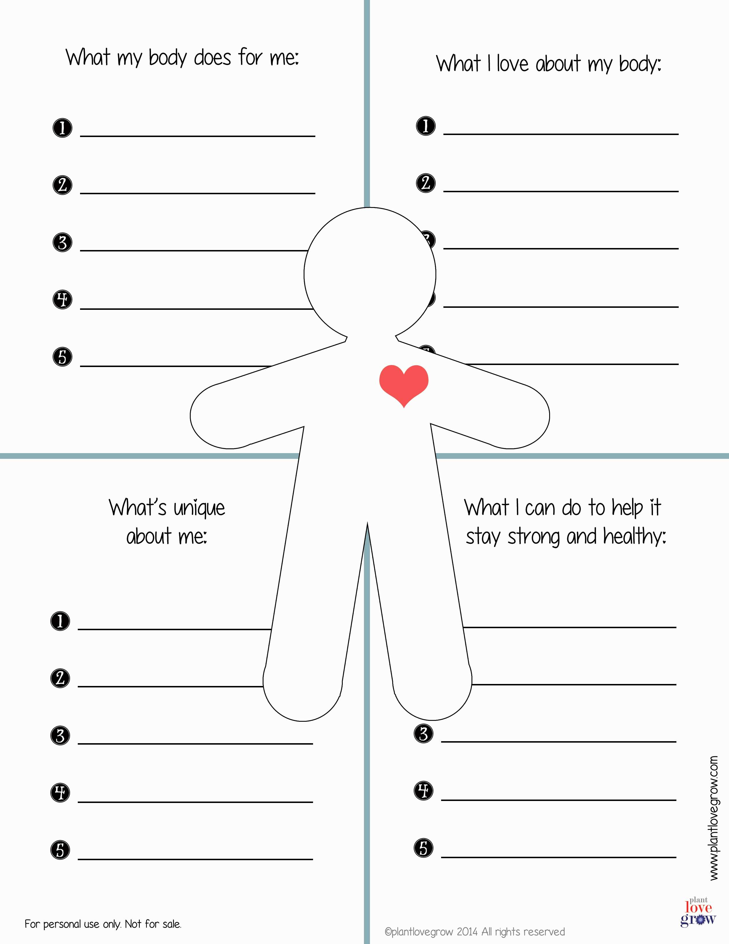 30 Self Esteem Worksheets To Print | Kittybabylove | Self Esteem Printable Worksheets