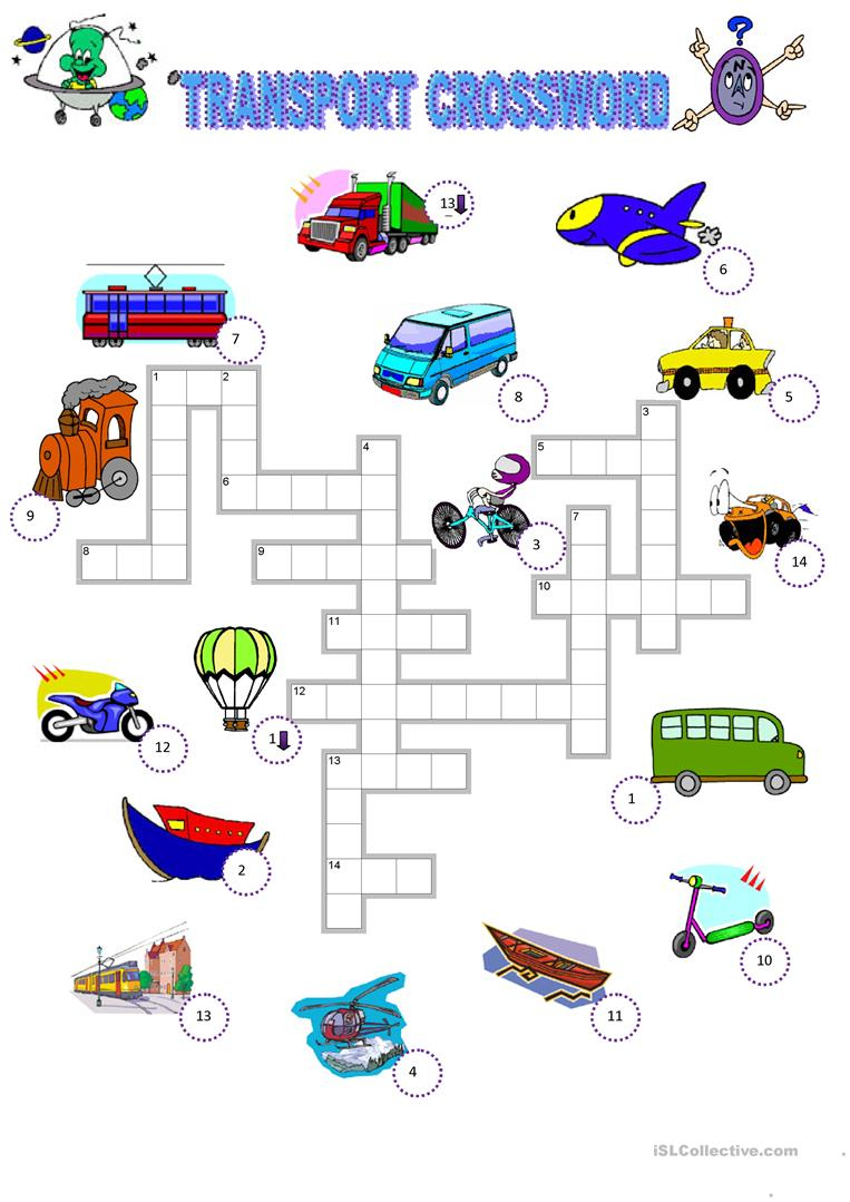310 Free Esl Means Of Transport Worksheets - Free Printable | Free Printable Transportation Worksheets For Kids