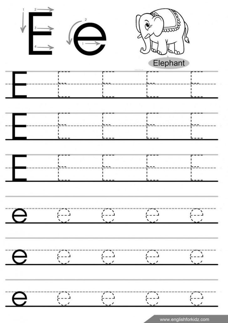 Letter E Free Printable Worksheets