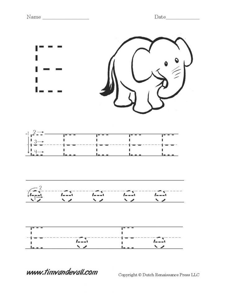 Letter E Printable Worksheets