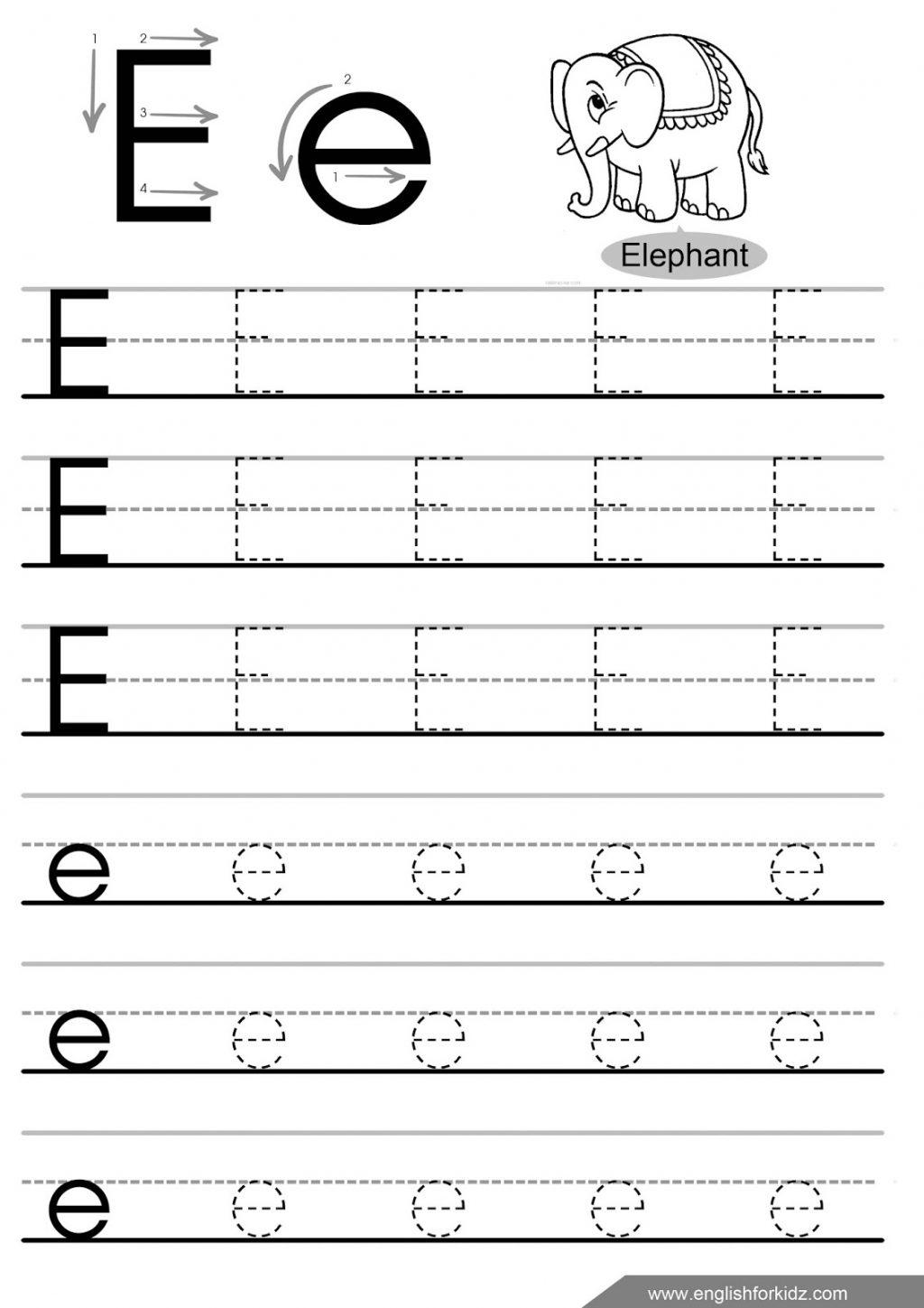 32 Fun Letter E Worksheets | Kittybabylove | Printable Letter E Worksheets For Preschool