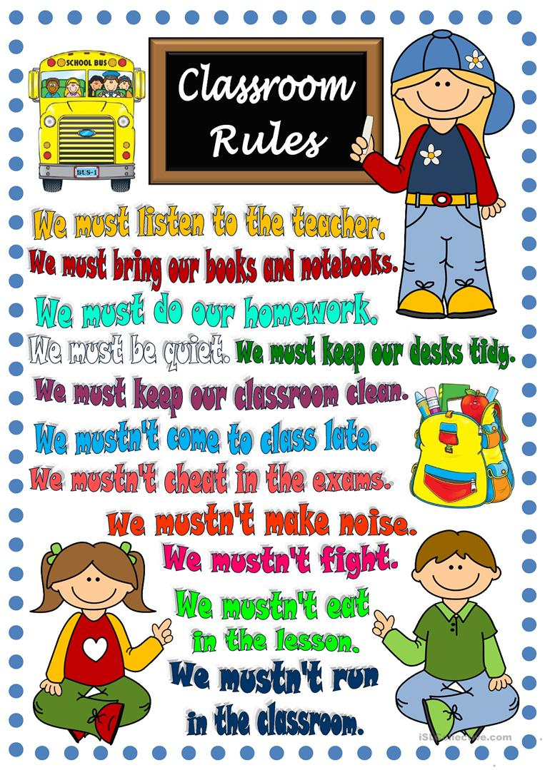 36 Free Esl Classroom Rules Worksheets - Free Printable Classroom | Free Printable Classroom Rules Worksheets