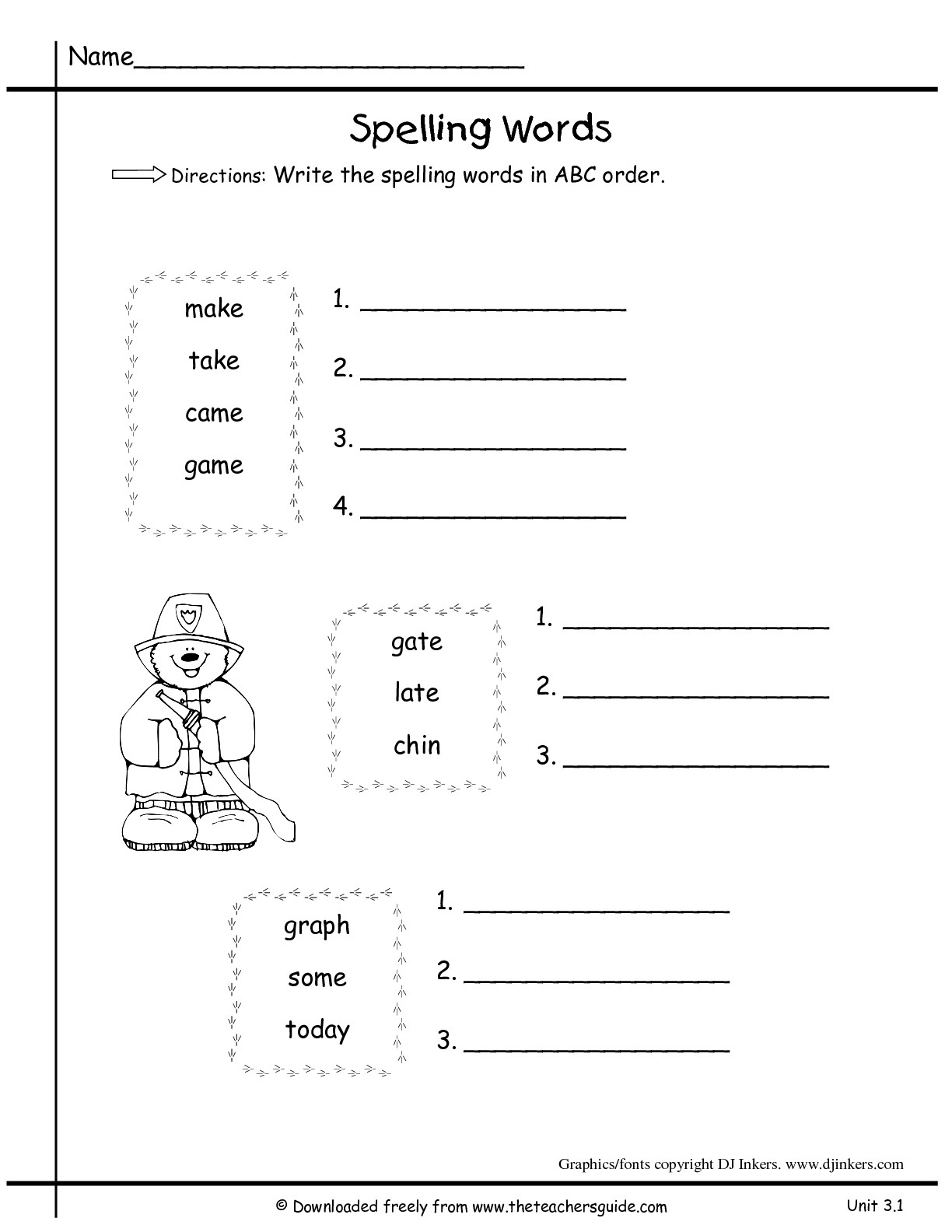 38 Alphabetical Order Worksheets | Kittybabylove | Printable Abc Order Worksheets