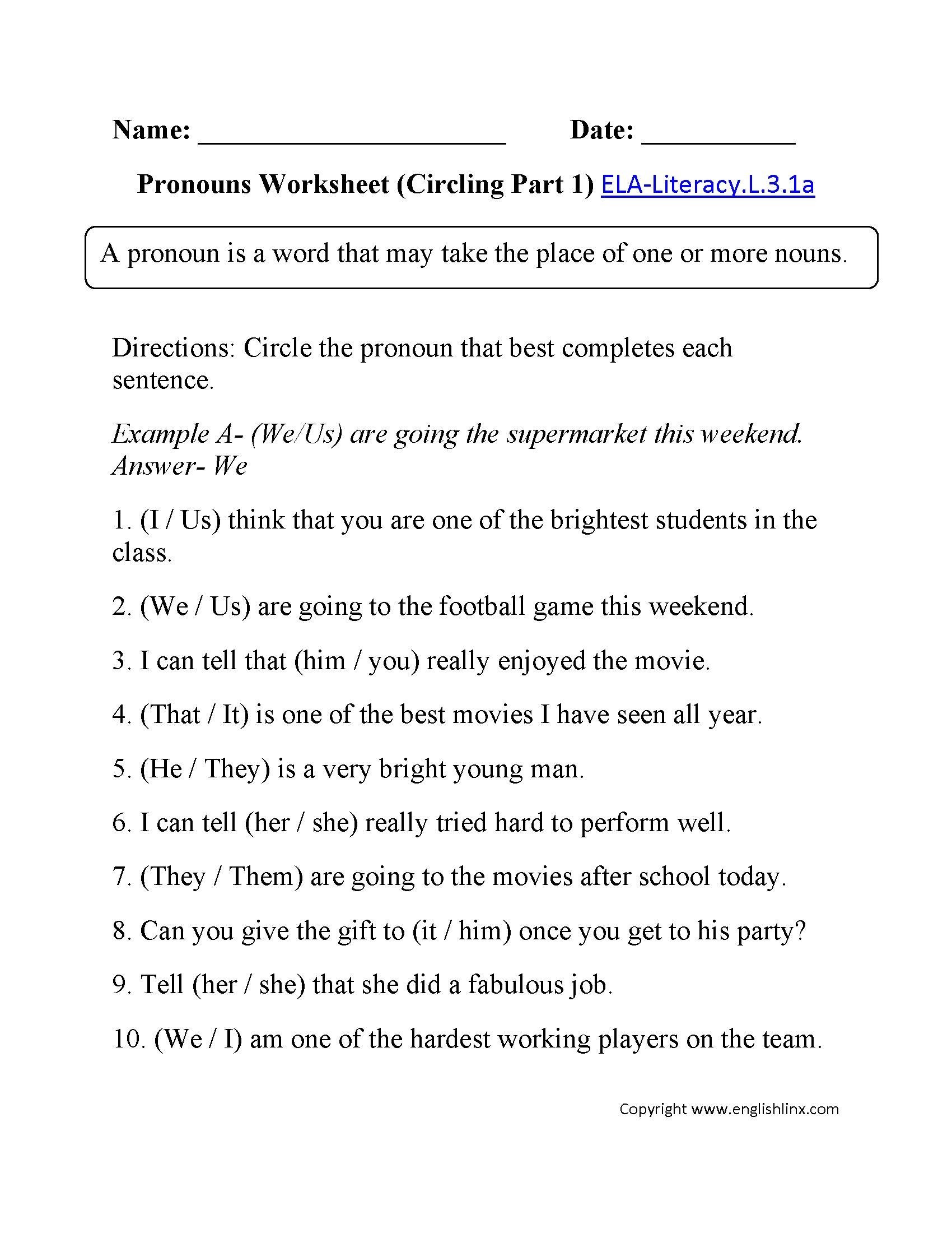 3Rd Grade Common Core | Language Worksheets | 3Rd Grade English Worksheets Printable