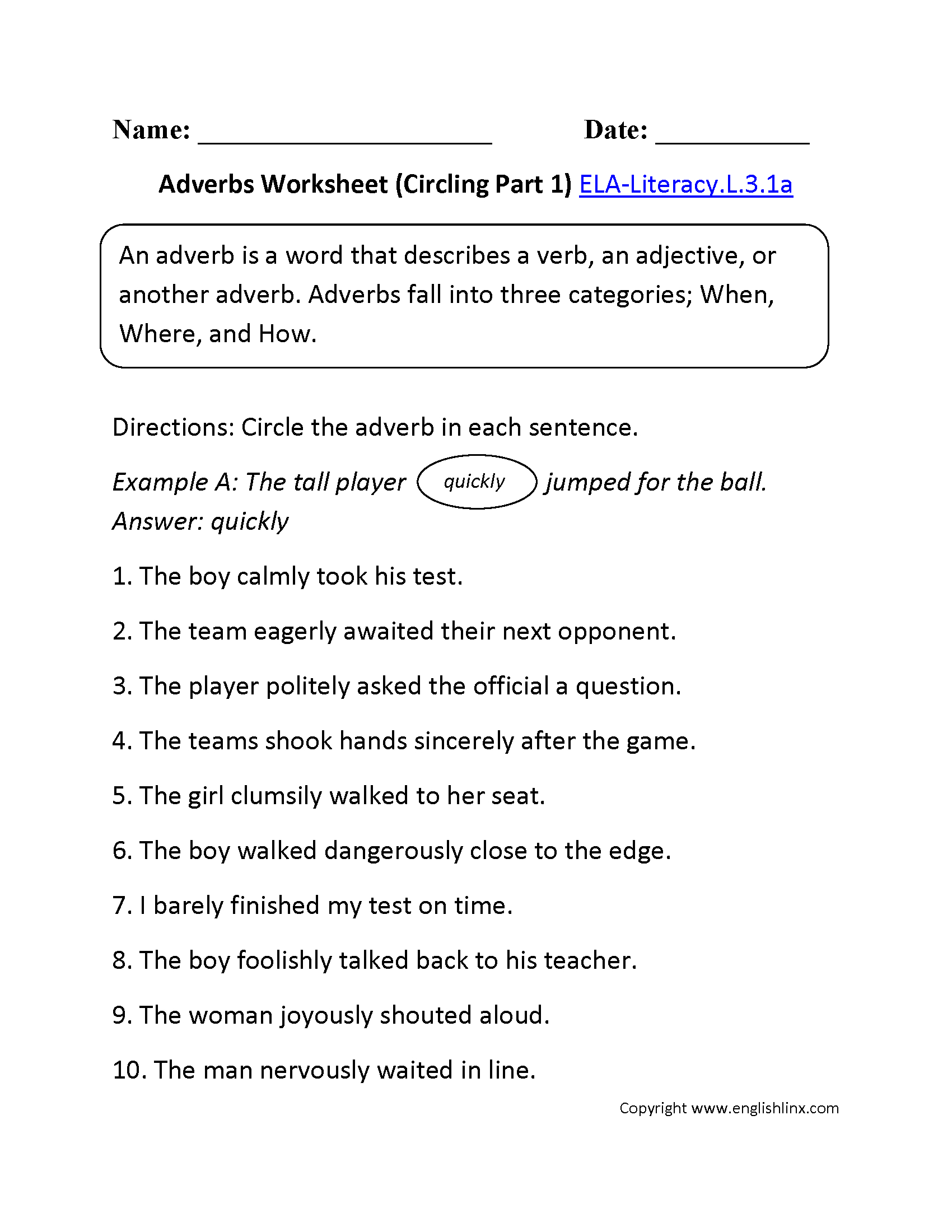 3Rd Grade Common Core | Language Worksheets | Language Worksheets For 3Rd Grade Printable