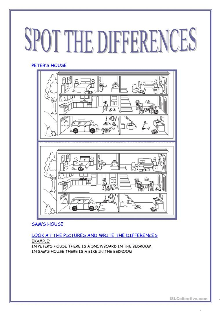 40 Free Esl Spot The Difference Worksheets - Free Printable Spot The | Spot The Difference Printable Worksheets For Adults
