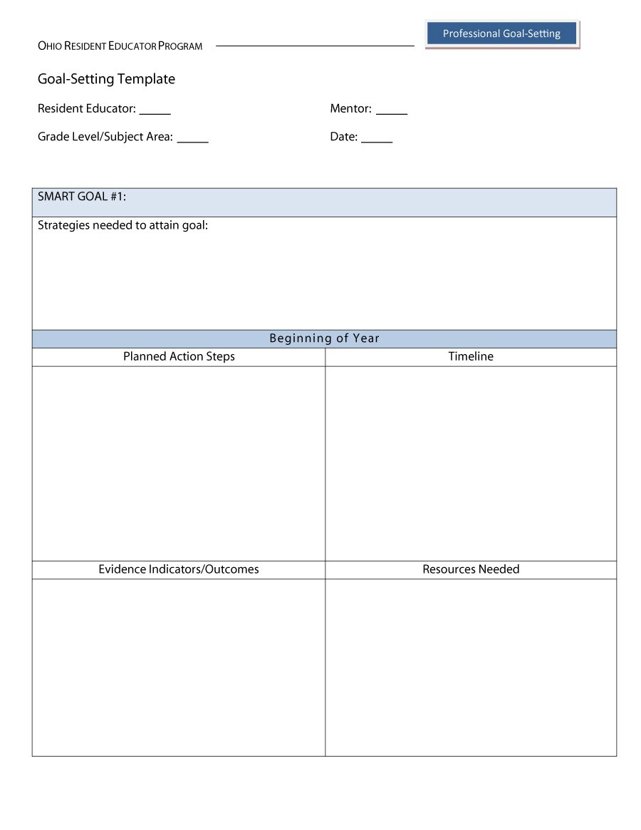48 Smart Goals Templates, Examples & Worksheets ᐅ Template Lab | Printable Goal Setting Worksheet For High School Students