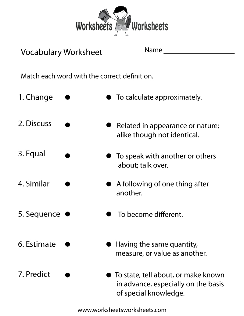 4Th Grade English Worksheets   Two Ways To Print This Free   Grade 7 Vocabulary Worksheets Printable