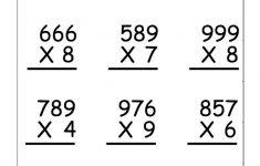 4Th Grade Printable Multiplication Worksheets