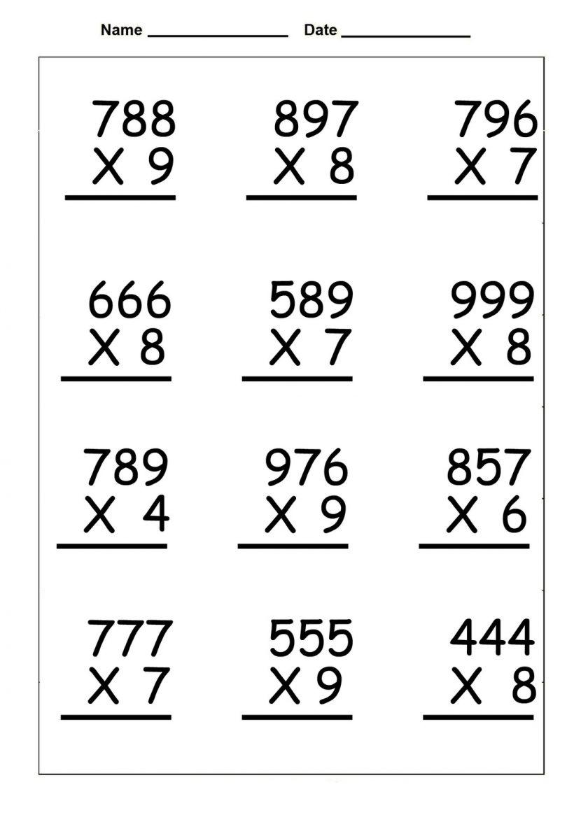 4Th Grade Multiplication Worksheets - Best Coloring Pages For Kids   4Th Grade Printable Multiplication Worksheets
