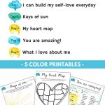5 Day Self Love Challenge For Children | Therapy Tools | Self Esteem | Self Esteem Printable Worksheets For Kids