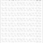 5 Printable Cursive Handwriting Worksheets For Beautiful Penmanship | Free Printable Script Writing Worksheets