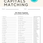 50 State Capitals | Social Studies | English Worksheets For Kids | Free Printable States And Capitals Worksheets