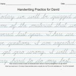 54 Unique Of Free Printable Cursive Handwriting Worksheets Pic | Free Printable Cursive Writing Sentences Worksheets