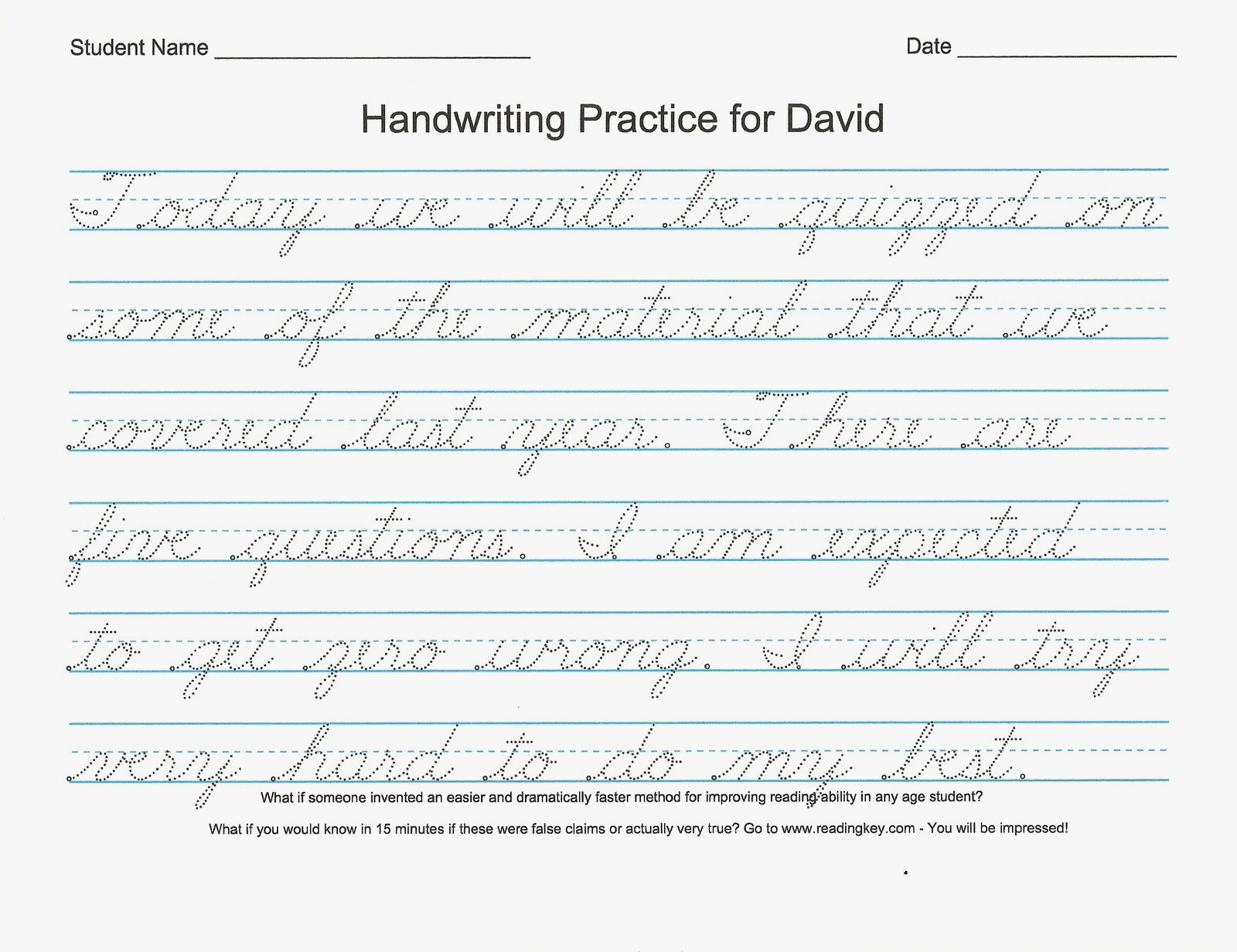 54 Unique Of Free Printable Cursive Handwriting Worksheets Pic   Free Printable Worksheets Handwriting Practice