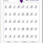 676 Division Worksheets For You To Print Right Now | Printable Elementary Math Worksheets