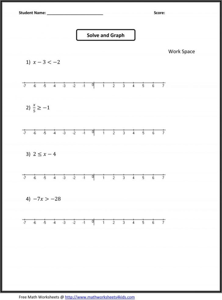 7Th Grade Math Printable Worksheets With Answers