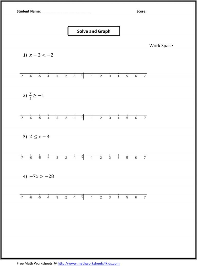 7Th Grade Worksheets Free 7Th Grade Math Worksheets Free Printable | 7Th Grade Math Printable Worksheets With Answers
