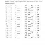 9 Times Table Worksheet Free | Kiddo Shelter | 9 Times Table Worksheet Printable