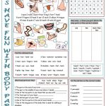 926 Free Esl Body Parts Worksheets | Free Printable Worksheets Kindergarten Body Parts