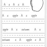 A For Apple Practice Writing Printable Sheet : Woman Of Many Roles | A For Apple Worksheet Printable