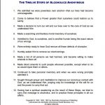 Aa 12 Step Worksheets Delwfg Com | Recovery | Aa 12 Steps | Aa 12 Steps Printable Worksheets