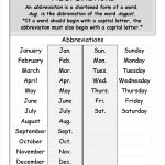 Abbreviations Worksheets From The Teacher's Guide | Free Printable Abbreviation Worksheets
