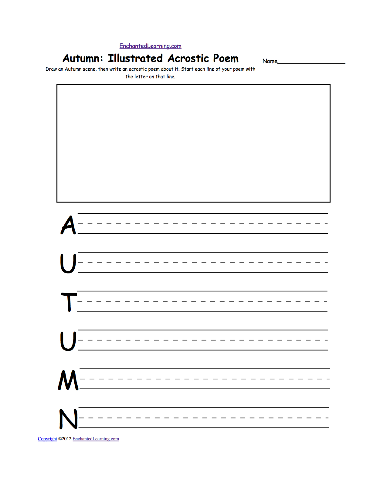 Acrostic Poems Plus Generate Your Own Poetry Worksheets | Poetry Worksheets Printable