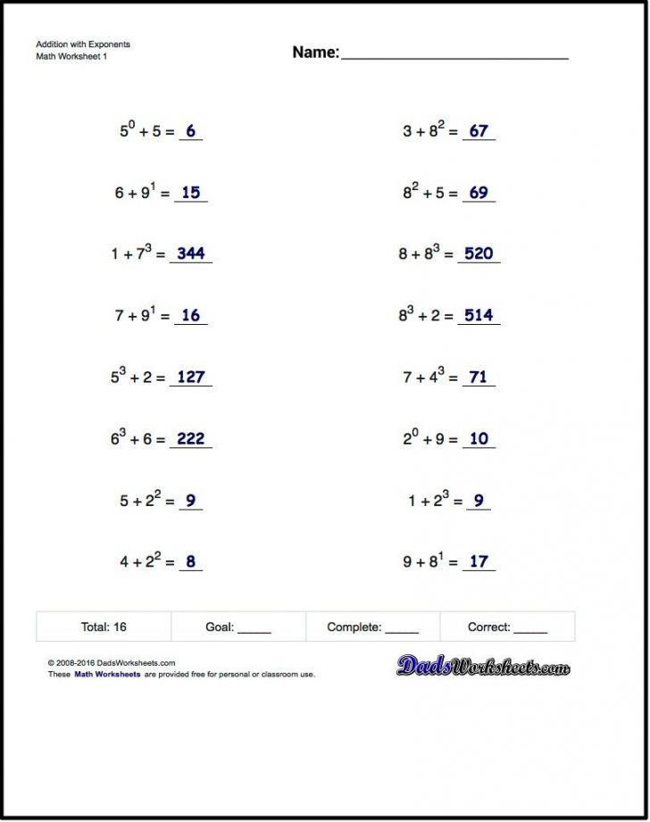 Free Printable Math Worksheets For 6Th Grade