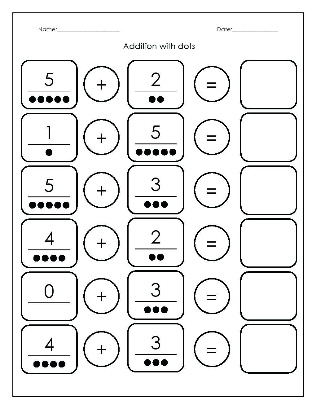 Addition Kindergarten Worksheets Kindergarten Math Worksheets | Free Printable Kindergarten Worksheets Pdf