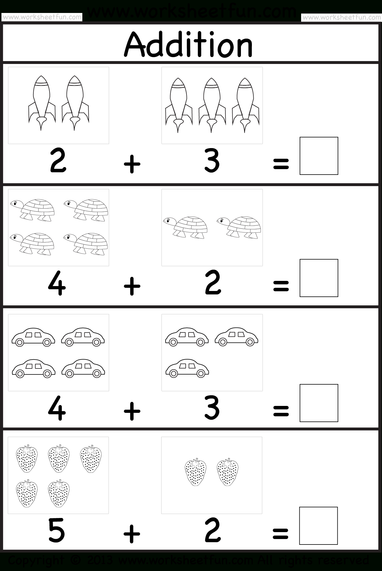 Addition Worksheet. This Site Has Great Free Worksheets For | Printable Worksheets For 5 Year Olds
