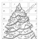 Advent Calendar 1   Esl Worksheetchiaretta | Advent Printable Worksheets