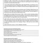 Agatha Christie   Reading Worksheet   Free Esl Printable Worksheets | Free Printable Middle School Reading Comprehension Worksheets