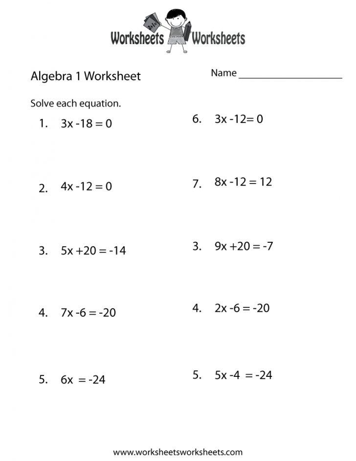 Free Printable 8Th Grade Algebra Worksheets