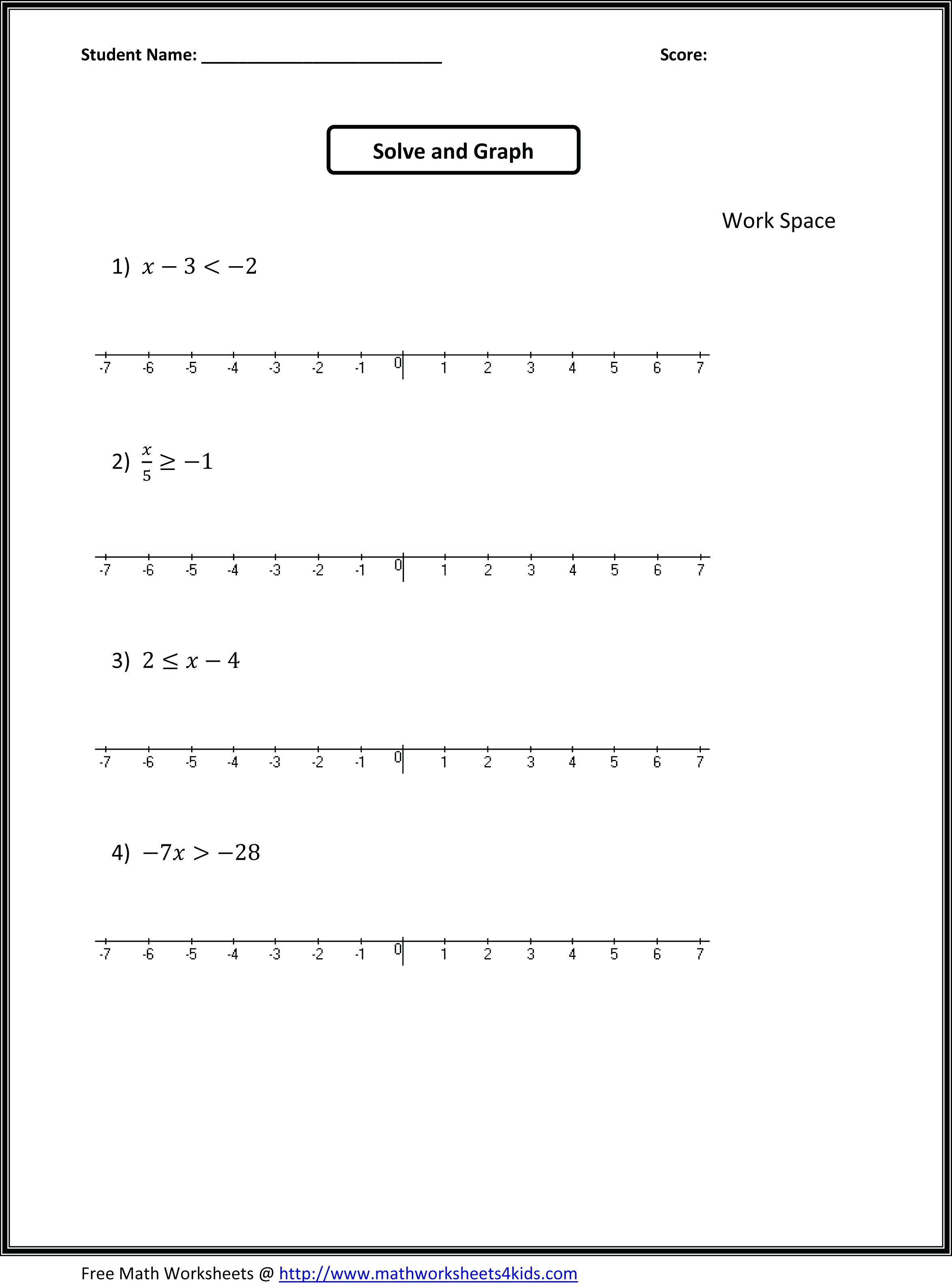 Algebra: 8Th Grade Math Worksheets Algebra Printable Worksheet For | 7Th Grade Math Worksheets Free Printable With Answers