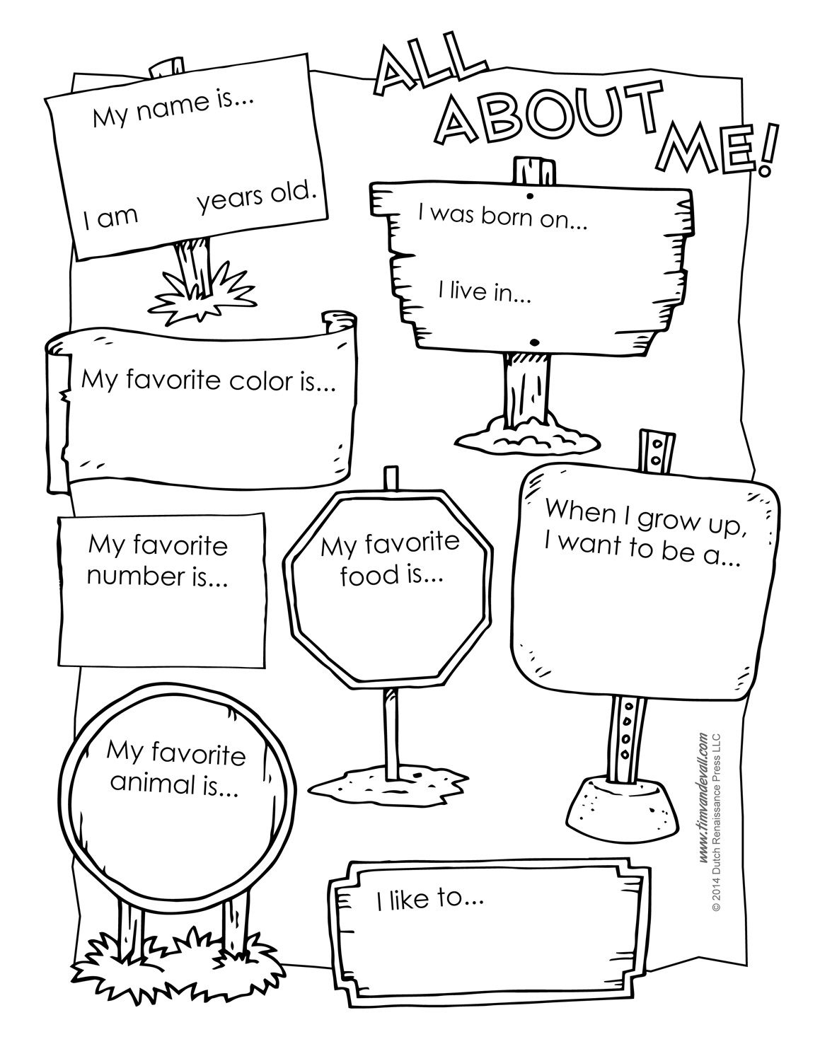 All About Me Free Workshet … | Social Emotional Learning | All A… | All About Me Worksheet Preschool Printable
