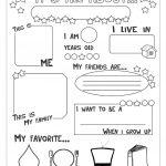 All About Me Worksheet   Free Esl Printable Worksheets Made | Printable Worksheets Com