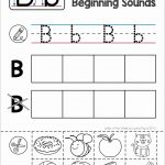 Alphabet Phonics Letter Of The Week B | Alphabet Activities | Free Printable Kindergarten Worksheets Cut And Paste
