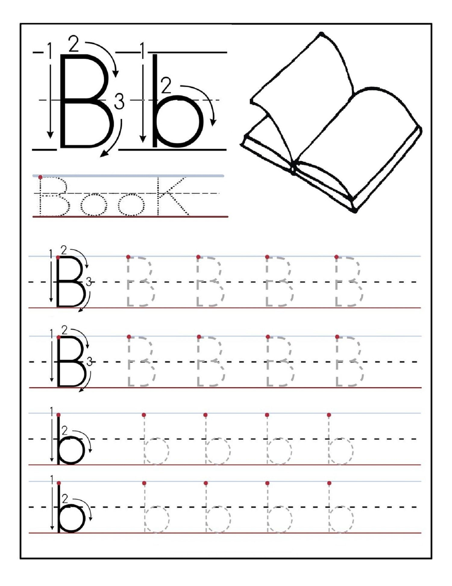 Alphabet Tracing Printables Best For Writing Introduction | Free Printable Letter Writing Worksheets