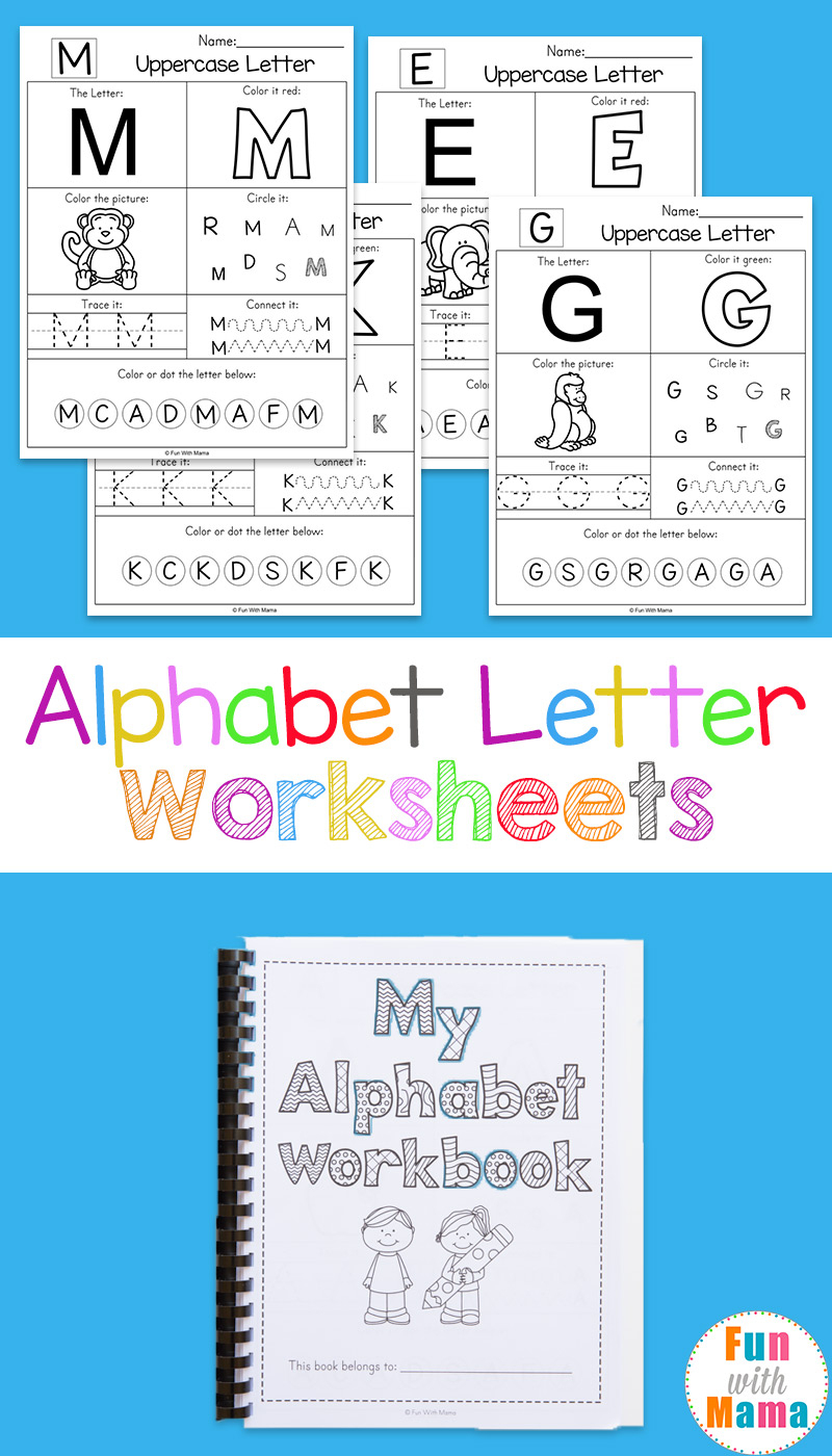 Alphabet Worksheets - Fun With Mama | Alphabet Worksheets For Preschoolers Printable
